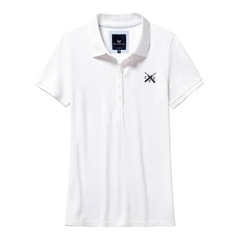 Crew Clothing White Classic Polo Cricket
