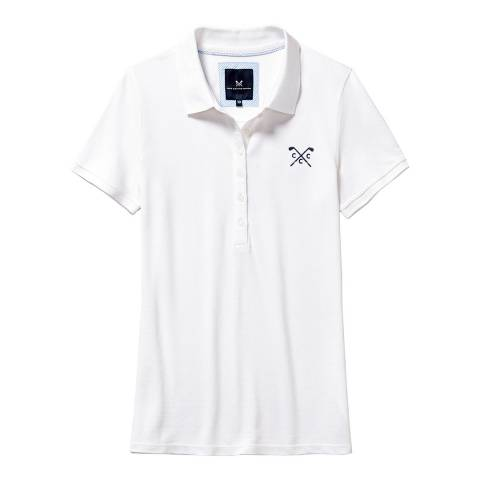 Crew Clothing White Classic Polo Golf