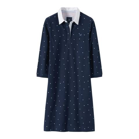 Crew Clothing Navy Spot Rugby Dress