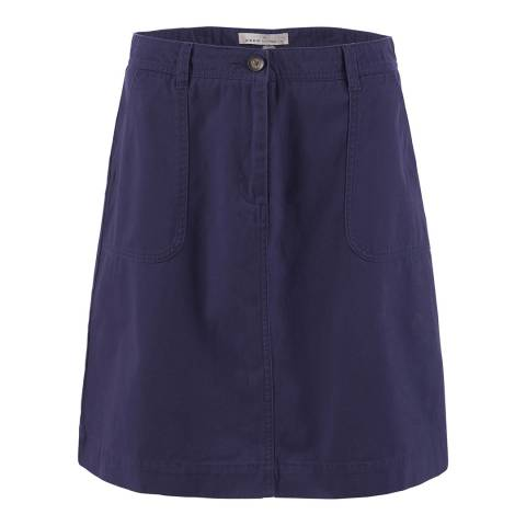 Crew Clothing Navy Casual Woven Linen Skirt