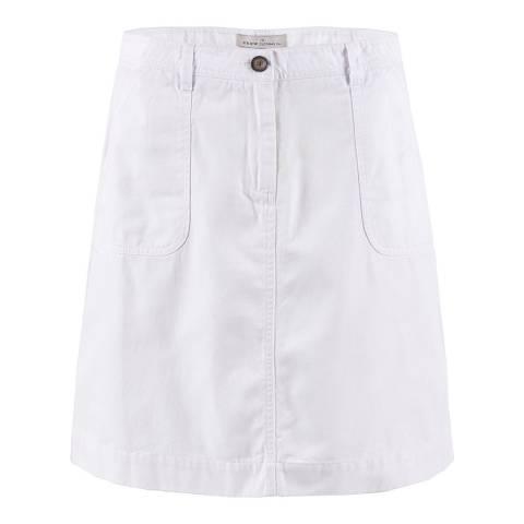 Crew Clothing White Casual Woven Linen Skirt