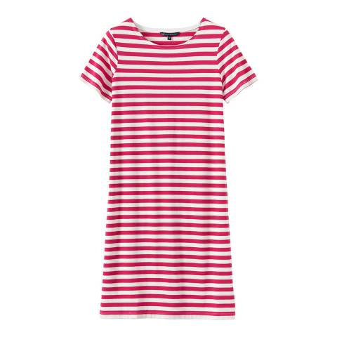 Crew Clothing Red/White SS Jersey Dress