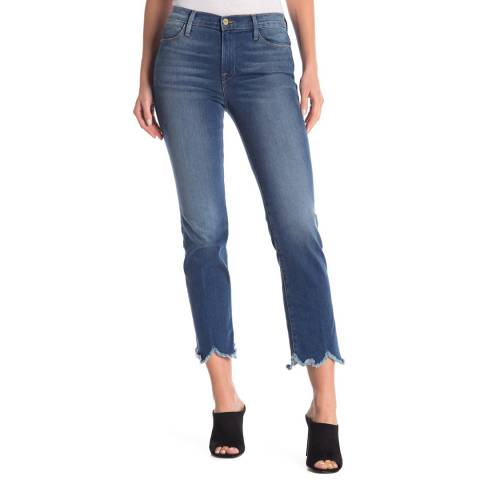 Frame Denim Blue Le High Rise Straight Jean