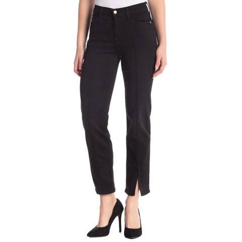 Frame Denim Black Le Nouveau Straight Jeans