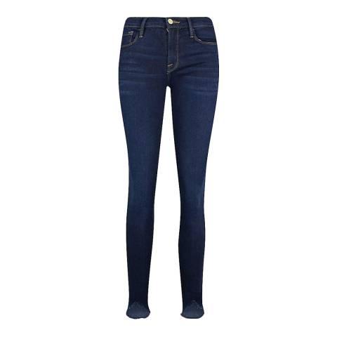Frame Denim Dark Blue Le Skinny Jeanne Jeans