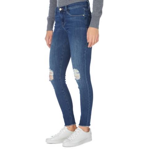 Frame Denim Black Le Skinny De Jeanne Mid Rise Jeans