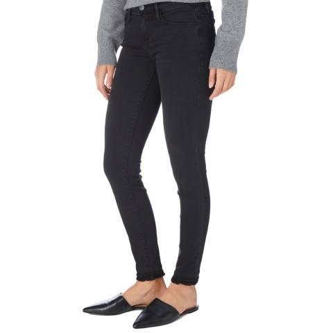 Frame Denim Dark Blue Skinny Mid Rise Raw Edge Jeans