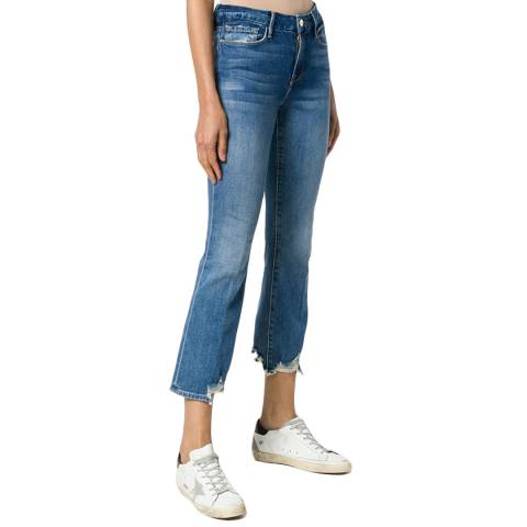 Frame Denim Light Blue Le Crop Mini Boot Jeans