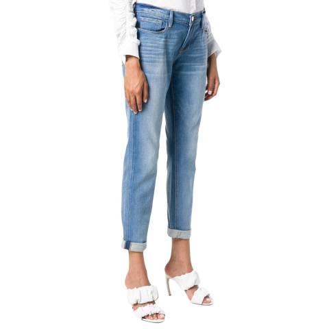 Frame Denim Light Blue Le Garcon Mid Rise Slim Fit Jeans