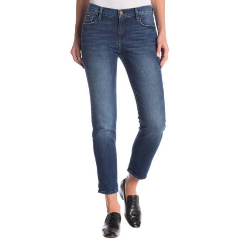 Frame Denim Dark Blue Le Garcon Crop Jeans
