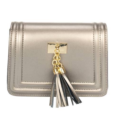 Giorgio Costa Silver Leather Crossbody Bag