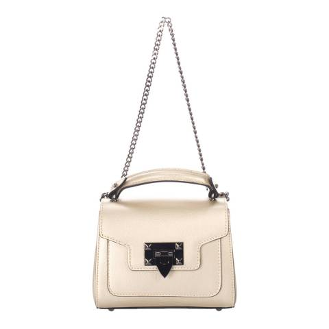 Lisa Minardi Cream Leather Crossbody Bag