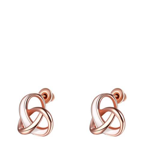 Ma Petite Amie Rose Gold Plated Knot Earrings