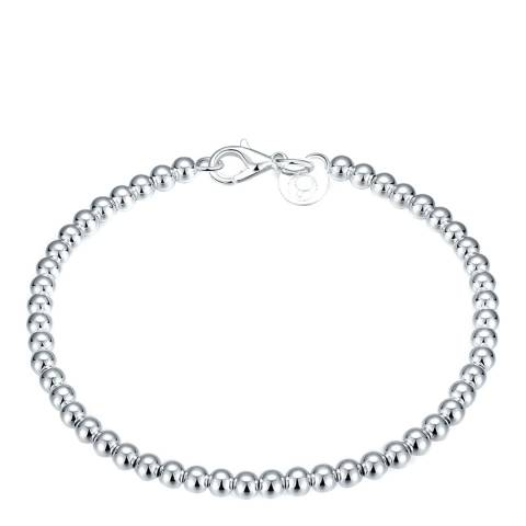 Ma Petite Amie Silver Plated Bead Bracelet