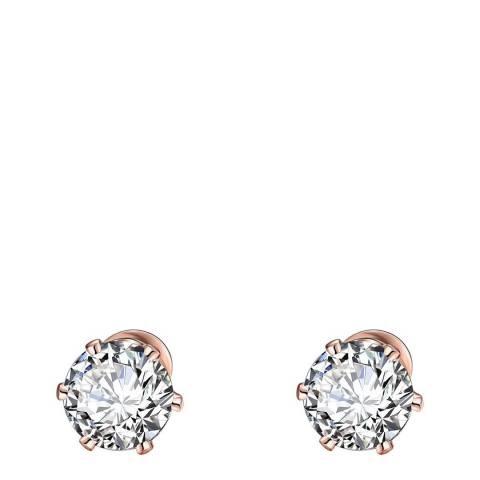 Ma Petite Amie Rose Gold Swarovski Elements Stud Earrings