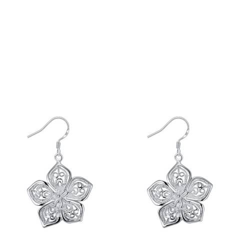 Ma Petite Amie Silver Flower Earrings
