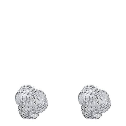 Ma Petite Amie Silver Plated Chain Stud Earrings