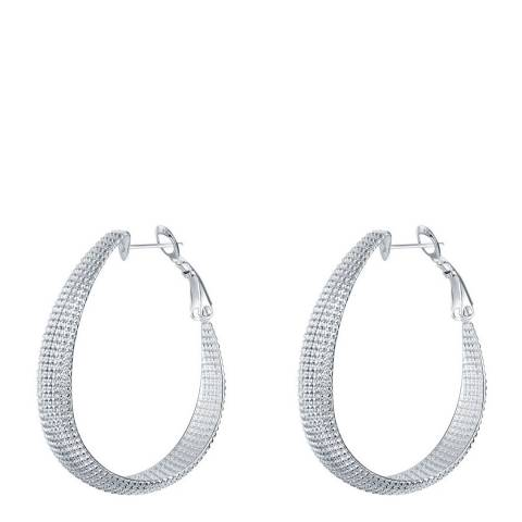 Ma Petite Amie Silver Plated Hoop Earrings