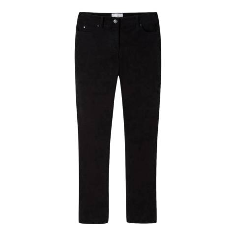 Pure Collection Black Kick Flare Cropped Trousers