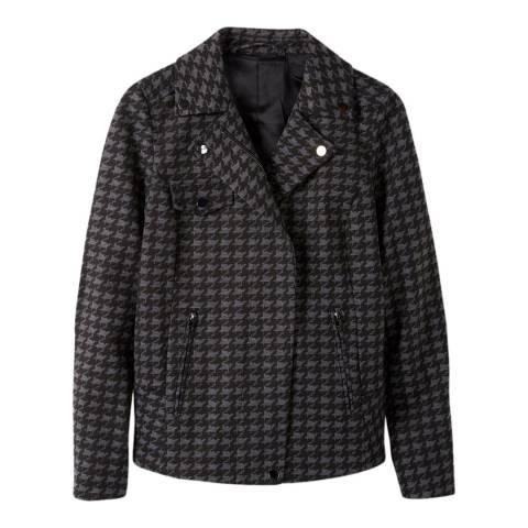 Pure Collection Grey Ponte Biker Jacket