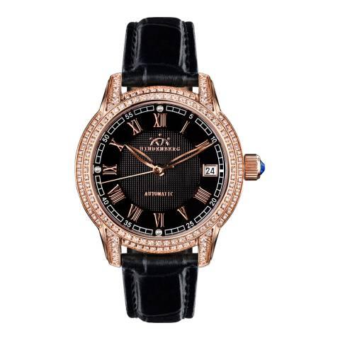 Hindenberg Women's Black/Rose Gold Duchess Watch