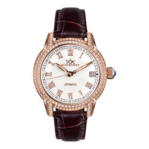 Hindenberg Women's Brown/Rose Gold Duchess Watch
