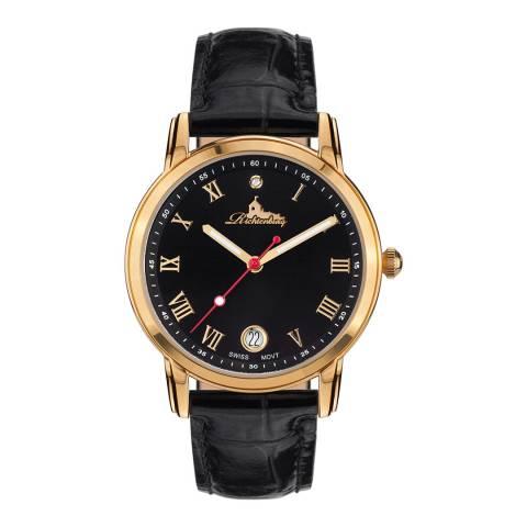 Richtenburg Women's Black/Gold Gesa Swiss Watch