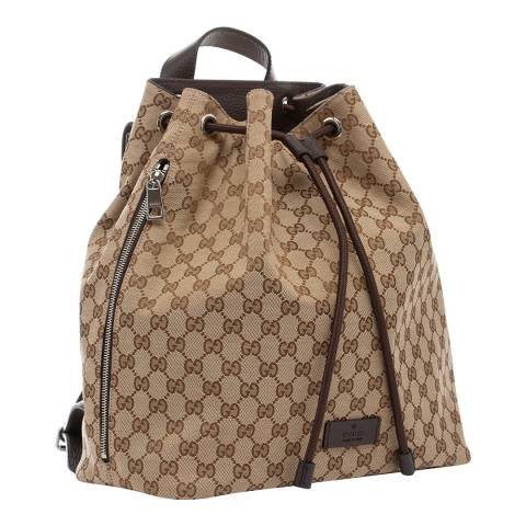 Gucci Women's Gucci Logo Canvas Backpack