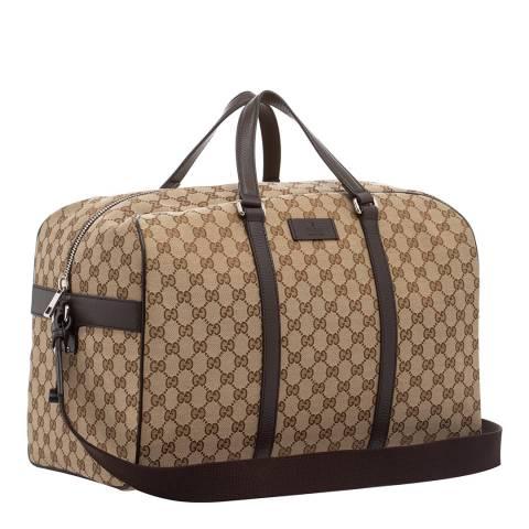 Gucci Beige Gucci Guccissima Canvas Bag