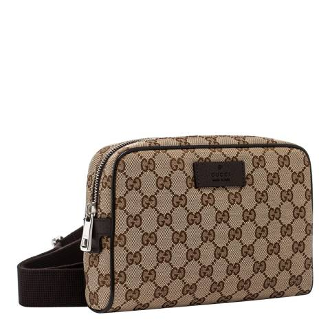 Gucci Beige Monogram Crossbody Bag