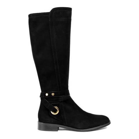 Roberto Carrioli Black Suede Knee High Boot
