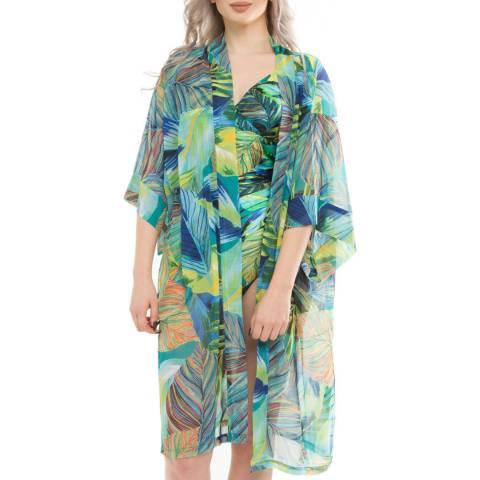 Seaspray Green Eden Open Kimono