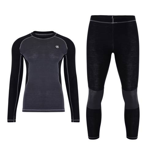 Dare2B Black/Charcoal Advanced Baselayer Set