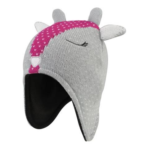 Dare2B Grey/Pink Deer Brainwave Beanie