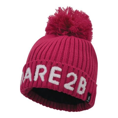 Dare2B Fuchsia Pink Indication Logo Beanie