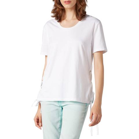 7 For All Mankind White Tie Side T-Shirt