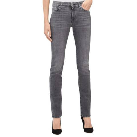 7 For All Mankind Grey Kimmie Straight Stretch Jeans