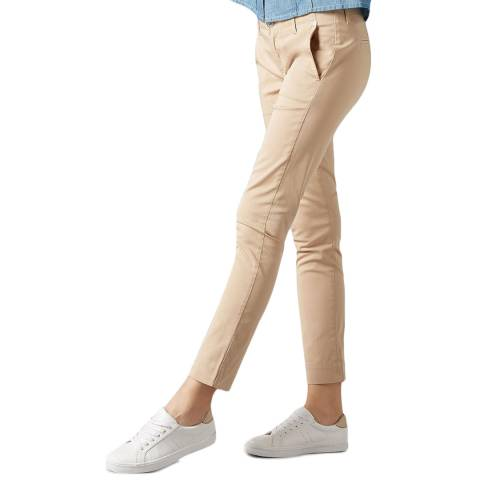 7 For All Mankind Beige Pyper Slim Chinos