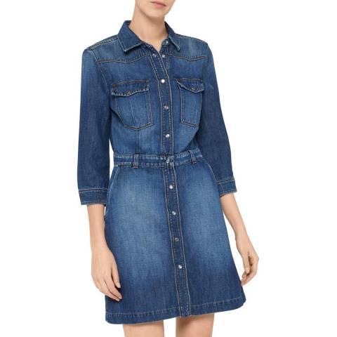 7 For All Mankind Indigo Victoria Jean Dress