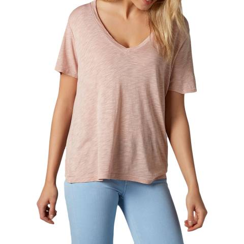 7 For All Mankind Pink Slub T-Shirt