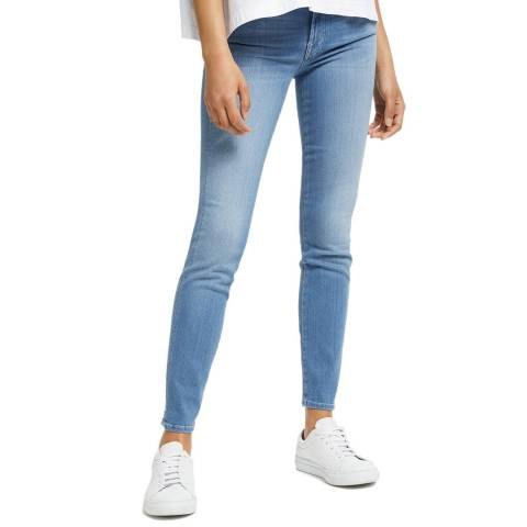 7 For All Mankind Light Blue Roxanne Slim Stretch Jeans