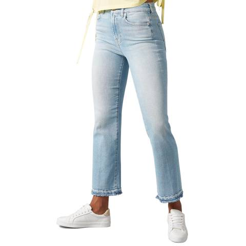 7 For All Mankind Light Blue Vintage Cropped Stretch Jeans
