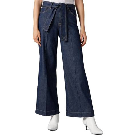 7 For All Mankind Indigo Lotta Cropped Stretch Jeans