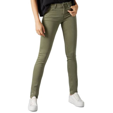 7 For All Mankind Khaki Roxanne Slim Stretch Jeans