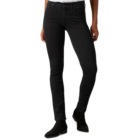7 For All Mankind Black Roxanne Slim Stretch Jeans