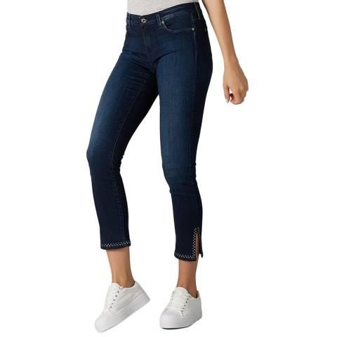 7 For All Mankind Indigo Pyper Cropped Slim Stretch Jeans