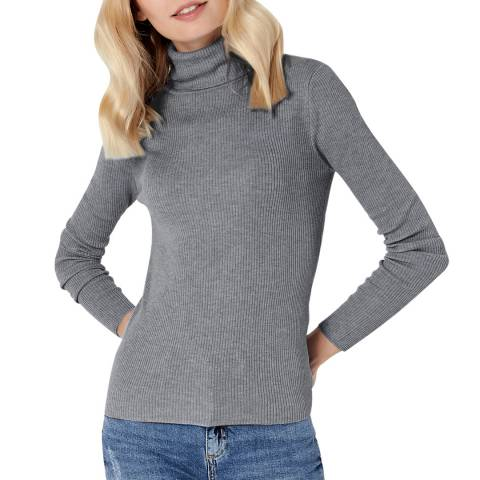 Manode Grey Roll Neck Jumper