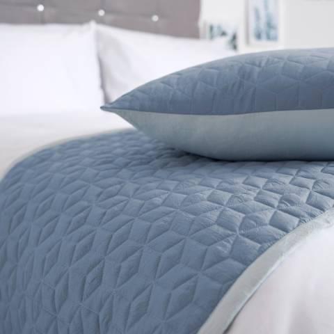Maison Blanche Panama Cushion, Duckegg/Storm