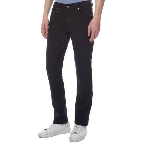 7 For All Mankind Black Slimmy Relaxed Stretch Jeans
