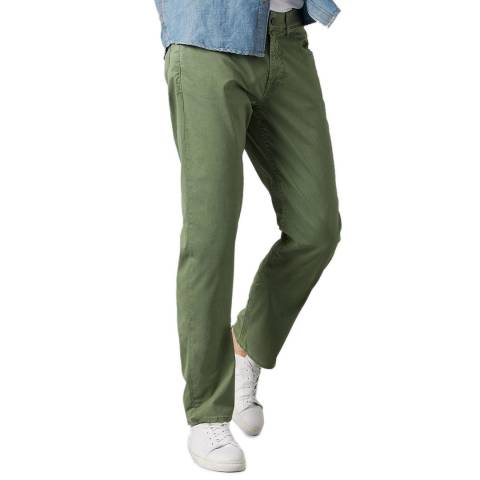 7 For All Mankind Green Slimmy Weightless Stretch Chinos